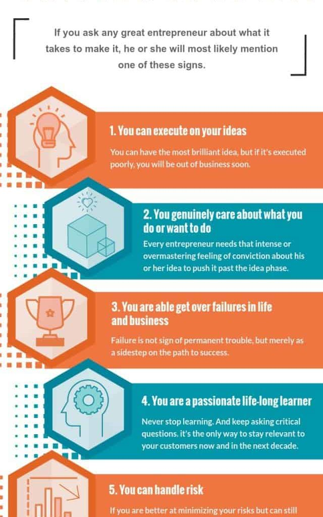 5 Signs You Have What It Takes To Be a Great Entrepreneur (Infographic) 1 - Florida Independent