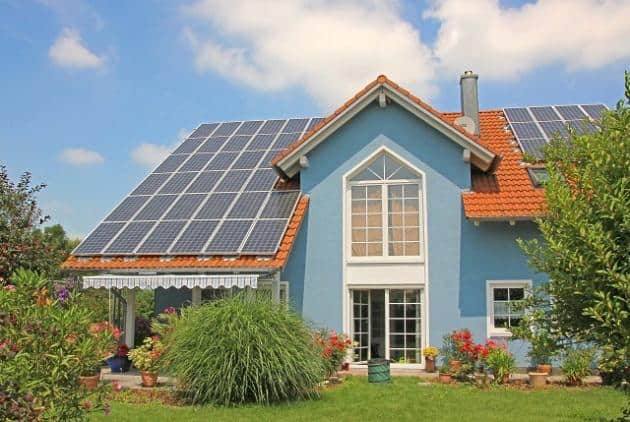 solar powered home