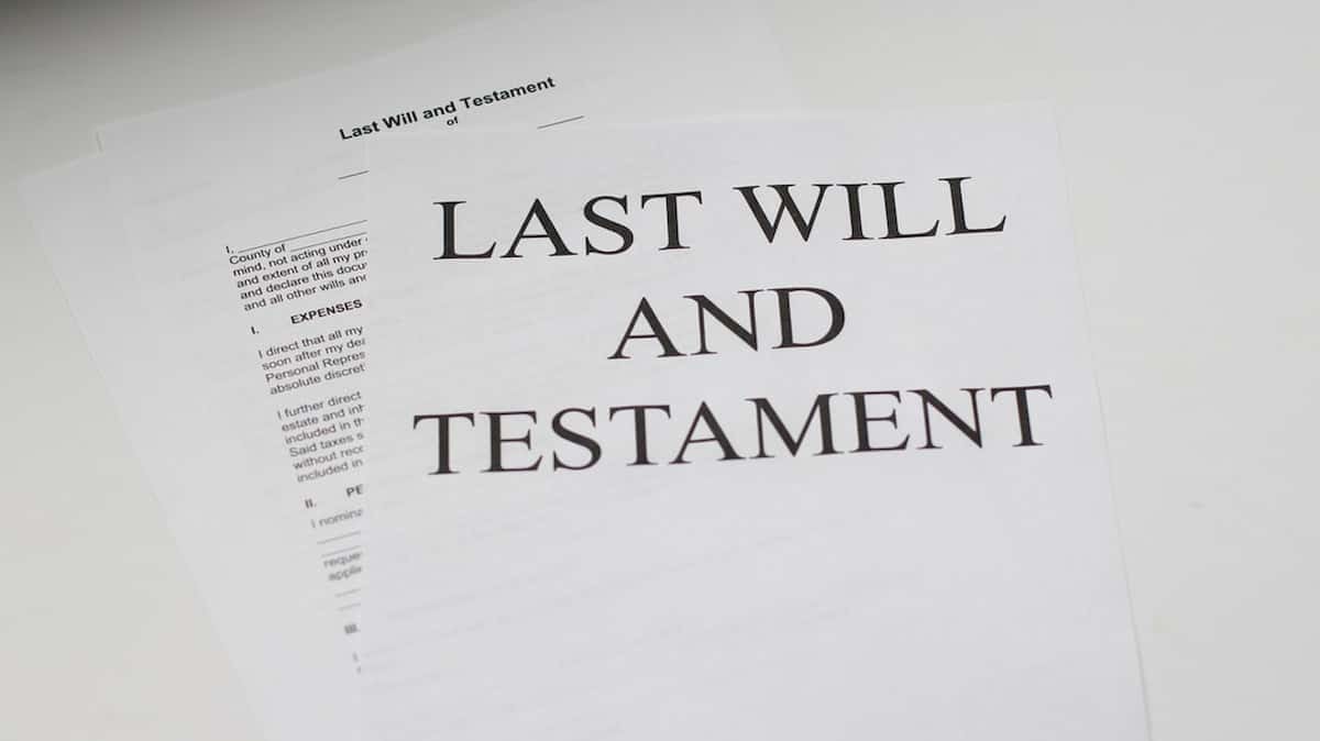 how to write a will and testament