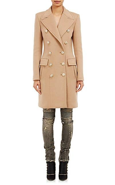 Drooling Over Balmain's Camel Double-Breasted Coat