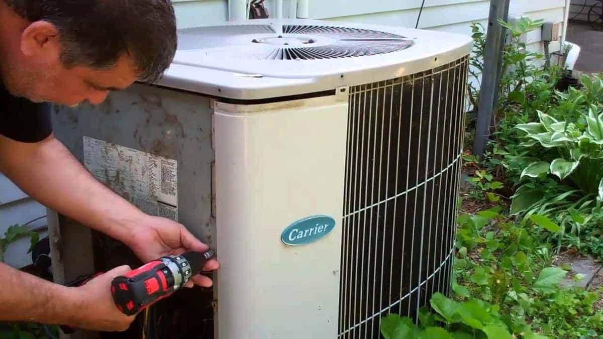 Spraying Water on Your AC Condenser