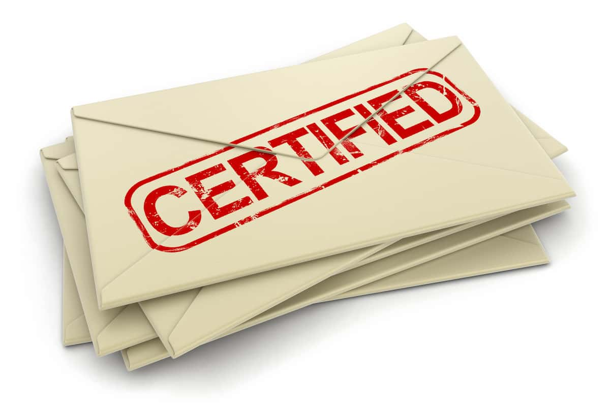 what is certified mail