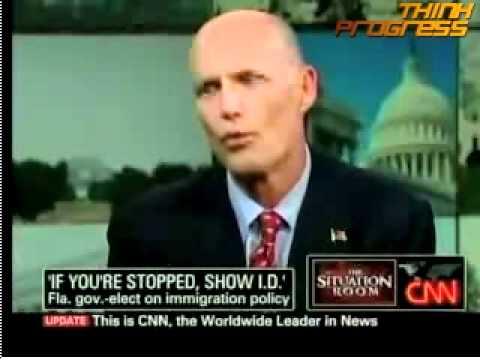 Scott endorses Arizona immigration law for Florida