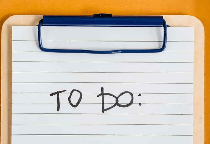 entrepreneurs To Do list